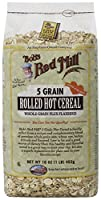 Bob's Red Mill 5 Grain Rolled Hot Cereal 16 Ounces (Case of 4)