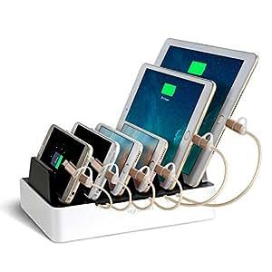 NexGadget 充電スタンド 6つUSBポート 収納充電 iPhone iPod iPad Androidスマホ対応可能