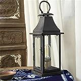 アメリカンヴィンテージアイアンホースは、工業用ロフトは、古いレトロなバー装飾的な壁のデュアルテーブルランプを行うヘッドライト