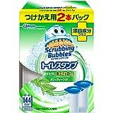 スクラビングバブル トイレ洗浄剤 トイレスタンプ 漂白成分プラス ホワイティーウッドの香り 付替用2本 38g×2本