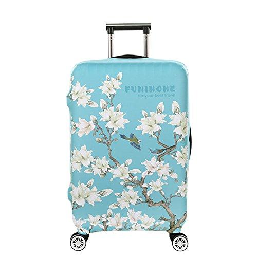 """[해외]Hzjundasi 크리에이티브 화려한 꽃 프린트 두꺼운 스트레칭 맞춤 짐 가방 보호 커버 18-32 """"/Hzjundasi Creative colorful flower print thick stretch personalized luggage suitcase protective cover 18-32 """""""