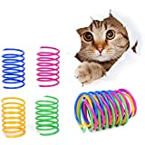 Cat Spring Toys- 60Pack Colorful Coils for Kittens Creative Supplies Spiral Springs Coil Springs for Cats Kittens,Lightweight Durable Plastic