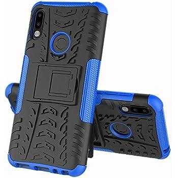 ZB631KL ケース ASUS Zenfone Max Pro(M2)ZB631KL カバー ソフトバンクソニー【Cavor】tpu+pcアーマーハイブリッド三重構造バックホルスターに耐震性のバンパーケーススタンド機能携帯カバー【選択可能な8色】ブルー