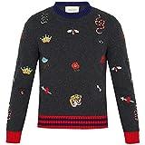 (グッチ) Gucci メンズ トップス ニット・セーター Embroidered wool-knit sweater [並行輸入品]