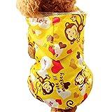 LeafIn レインコート ペット服 帽子付き ドッグウェア 防水 雨の日 雨具 大型 中型 犬用品 (L, イエロー)