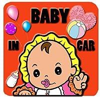シール/赤ちゃん ステッカー/ベイビー/ネーム入れ不可/かわいい/雑貨/グッズ/BABY IN CAR/BABYINCAR/オリジナル/ハンドメイド/手作り/車/車用ステッカー/雑貨/