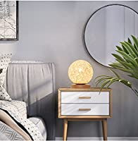 YZUEYT テーブルランプの寝室のベッドサイドのロマンチックな調光クリエイティブな人格の贈り物北欧のリビングルームより糸籐テーブルランプ YZUEYT (Size : B)