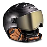 16KASKカスクゴーグル付ヘルメット「ヘルメットバイザーELITE Pro」Carbon×Brown(SHE00020.272) (58)