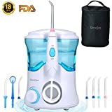 Oral Irrigator Multifunctional Water Flosser for Family, DentJet Professional Dental Care Kit Teeth Cleaner Water Pick for Teeth with 7 Nozzles and Travel Bag (DJ-169 for Household)