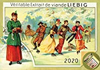 カレンダー 2020 [12 pages 20x30cm] Vintage レトロSport Scenes Liebig Cards Vintage レトロIllustration