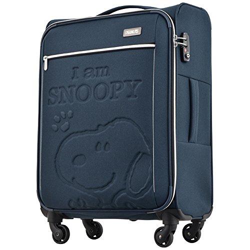 キャリーケース ピーナッツ スヌーピー 当社限定 スーツケース かわいい TSAロック PEANUTS SNOOPY ファスナータイプ 4輪 47L 3日 5日用 54cm Lサイズ PN-006【1年保証付】 (NAVY)