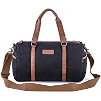 Gootium Duffel Bag - Canvas Travel Duffle Weekender Shoulder Bags Gym Tote