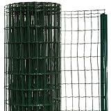 簡単金網フェンス・改良型 1000 ネット+支柱セット 【高さ:1.0m・長さ:20m・防錆処理+PVC加工】