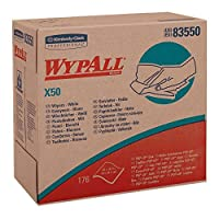 Wypall X50 Disposable Cloths (83550),Strong for Extended Use,POP-UP Box,White,10 Boxes/Case,176 Sheets/Box,1,760 Sheets/Case [並行輸入品]