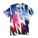(ピゾフ)Pizoff メンズ Tシャツ 半袖 イナズマ柄 総柄 カッコいい モード系 ストリートファッション ヒップホップスタイル 男女兼用 トップス Y0513-no63-L