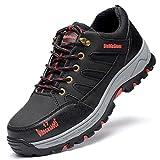 [ブルーポメロ]安全靴 作業靴 スニーカー メンズ 鋼先芯 ケブラー繊維ミッドソール 軽量 通気