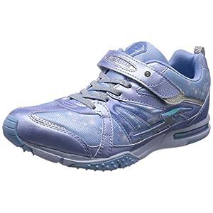 [スーパースター] 運動靴 通学履き バネ バネのチカラ パワーバネ 軽量 マジック ゆったり SS J801 サックス 220(22 cm) 2E
