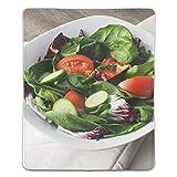 マウスパッド サラダの葉ほうれん草のきゅうり レーザー&光学マウス対応 防水/洗える/滑り止め サイズ:18 x 22 x 0.3 cm
