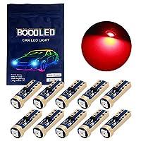 Bood-led車用 T5 LED ナンバープレートランプ 3030 1SMD レッド Red 拡散 73 74 ダッシュボードライト サイドライト ホワイト 10個入り T5-1D-2W (10xT5-3030-1-R-JM)