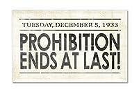 Prohibition新聞カバー–最後で終了 6 x 4 Acrylic Photo Block Decor LANT-3P-AC-PB-80230-4x6