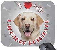 iLeesh i Love My Poodle Mouse Pad Peach [並行輸入品]