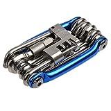自転車工具セット,Petforu マルチ機能 バイク修理 ツール 携帯-ブルー