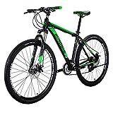 マウンテンバイク EUROBIKE アルミフレーム X9-21段 ハードテイル29インチ MTB 前後ディスクブレーキ器 変速21速 超軽量 通勤 学習 乗ろう自転車 グリーン