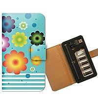 プルームテック ケース PloomTECH 手帳型 フラワー2 B002701_02 花柄 模様 シンプル イラスト