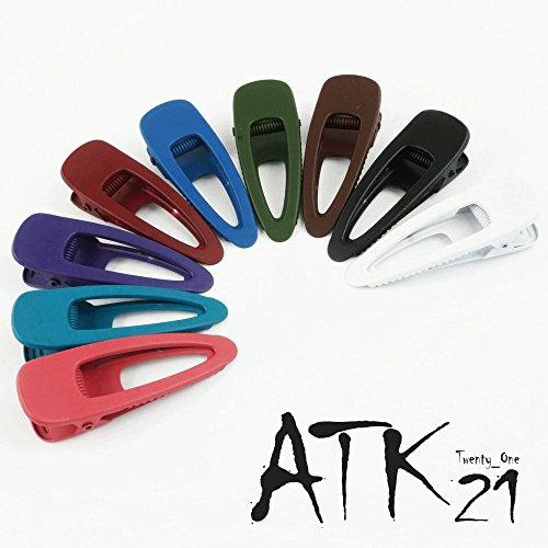 [해외][ATK21 (S 사이즈) 오픈 타원형 매트 컬러 클립 핀 닷카루 심플 무지 앞머리 무광 여성 헤어 액세서리 성인/[ATK21] (S size) Open oval matte color clip pin Ducker simple plain bangs Matte ladies hair accessories Adults