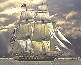 絵画風 壁紙ポスター (はがせるシール式) 帆船 ヨット 航海 セーリング キャラクロ SHP-001A2 (A2強版 594mm×476mm) 建築用壁紙+耐候性塗料