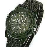 プーマ 時計 ZooooM 腕時計 文字盤 フェイク 時計 バンド 針 風 ミリタリー ファッション カジュアル オシャレ アナログ ( グリーン ) ZM-MIRITOKE-GR