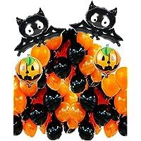 しあわせ倉庫 ハロウィン 飾り 大きいコウモリの 風船 セット かぼちゃ 空気入れ パーティー (フルセット)
