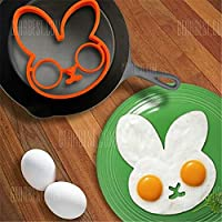 Lovely cute Rabbit Shape Silicone Egg Mold Ring Cooking Tools Fried Egg Kitchen Gadgets