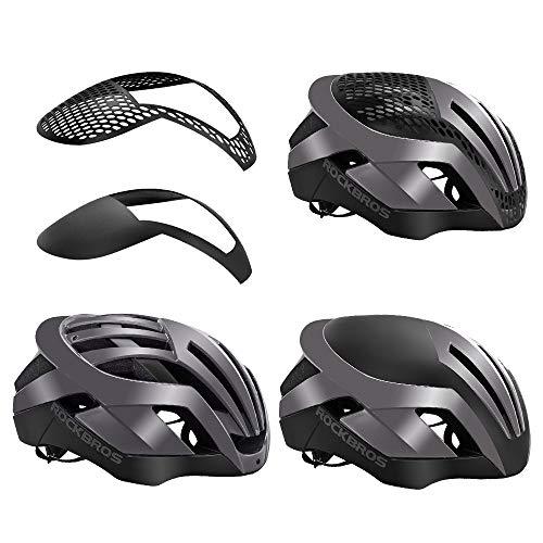 ROCKBROS(ロックブロス)自転車ヘルメット バイク ロードバイク ヘルメット 大人 超軽量 高剛性 通気 サイズ 調整可能(頭囲:57-62㎝)(シルバー)