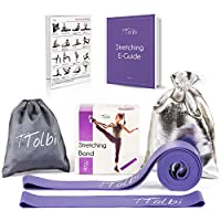 Stretch Bands for Dancers, Ballerinas and Gymnasts Dance Stretch Bands for Flexibility, Mobility and Strength Gift Bag, Travel Bag, Printed Stretches and Stretching E-Guide