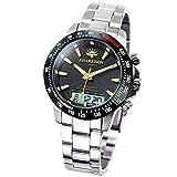 【ジョンハリソン/JOHN HARRISON】 メンズ 腕時計 ソーラー 電波 デジアナ式多機能付 JH-094GB