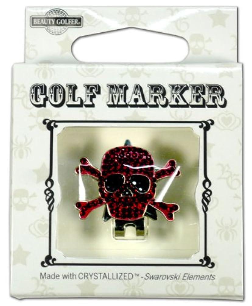 エコー思いやり報酬のゴルフ マーカー BG-18 ドクロ ワインレッド