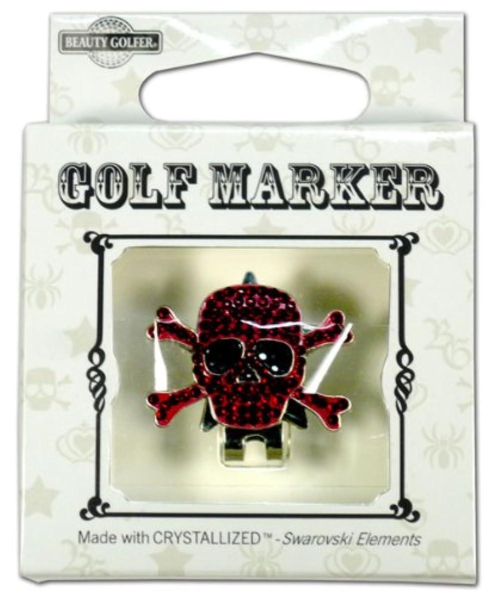 フォーク物質ティームゴルフ マーカー BG-18 ドクロ ワインレッド