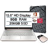 """2021 Newest HP 15.6"""" HD Display Laptop, AMD Athlon Silver 3050U(up to 3.2GHz, Beat i3-8130U), 8GB RAM, 256GB SSD, 1-Year Offi"""