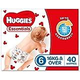 Huggies Essentials Nappies, Size 6 Junior (16+kg), 40 Count