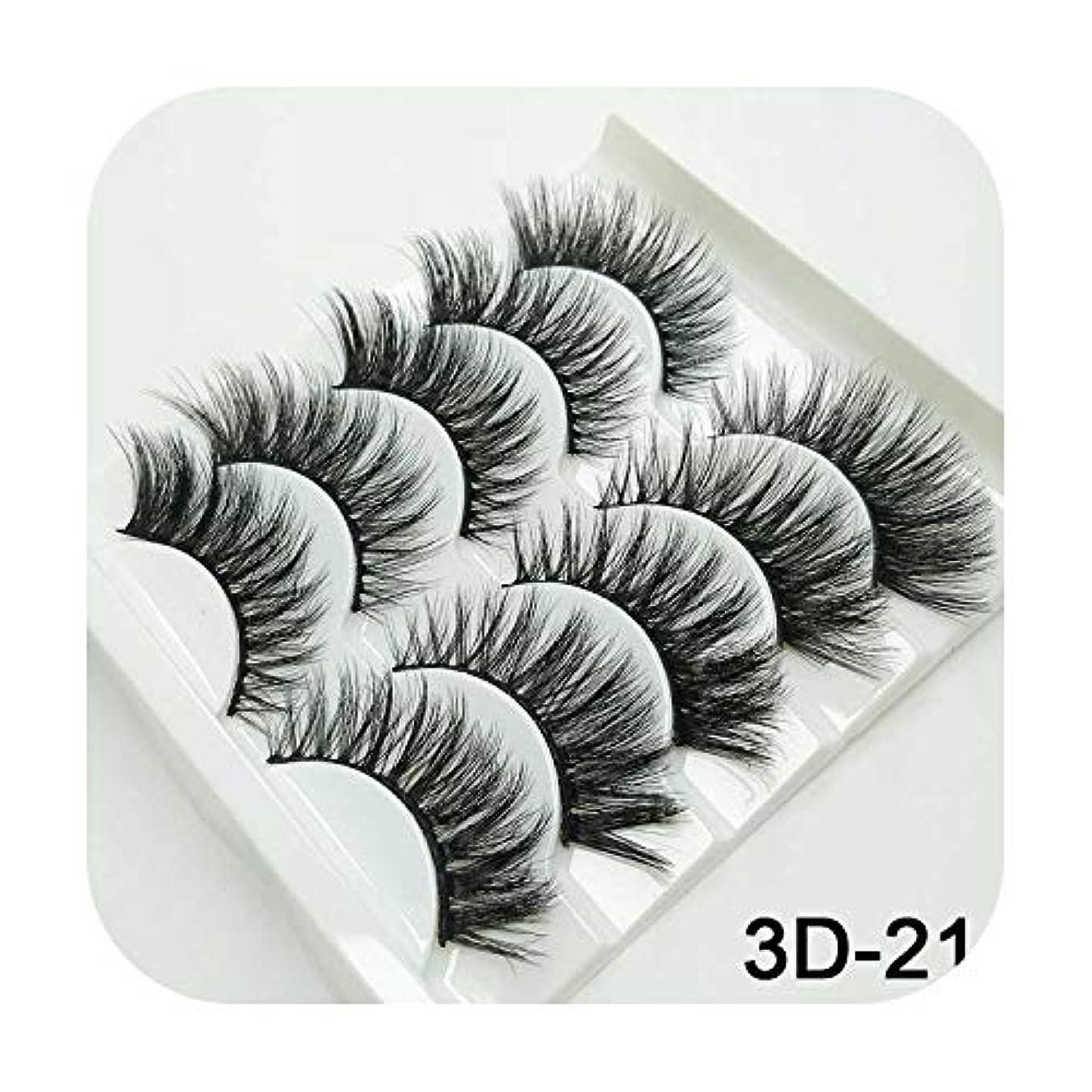今晩スペインお勧め3Dミンクまつげナチュラルつけまつげロングまつげエクステンション5ペアフェイクフェイクラッシュ,3D-21
