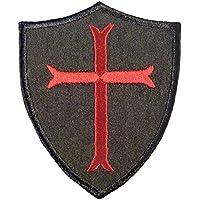 US ネイビーシールズ DEVGRU Crusaders Templar Cross エンブロイダリー ベルクロ面ファスナー パッチ Patch