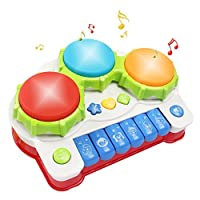Musical toys Tomons Music Piano Keyboard Drums Learning Toy Best Christmas Gift for Toddler Baby Kids Educational Game. [並行輸入品]