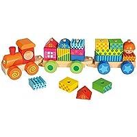 Bino Train Set with Houses by Bino [並行輸入品]