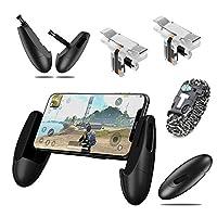 PUBG mobile 荒野行動 モバイル コントローラー 射撃ボタン スマホ用ゲームコントローラー 金属ボタン 高速射撃 高感度 iPhone Android 対応 左右共用