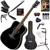 YAMAHA アコースティックギター 初心者 入門 ウエスタンタイプ セット内容をグレードアップした15点セット FG820/BL(ブラック)