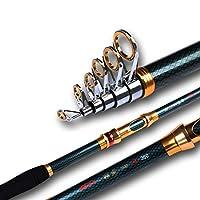 高伸縮釣りロッド超硬度超ハードカーボンロッドカーボン2.1m-3.6m釣りロッド回転釣りポール