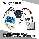 GoolRC 3650 3930KV 4P ブラシレス モーター + 45A ブラシレス ESC スピードコントローラー + LED プログラムカード コンボ セット 1/10 RC ラジコン カー 車用
