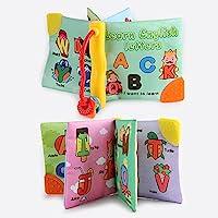LanLan柔らかい布Books Rustle BB Teetherサウンド幼児教育ベビーカーRattleおもちゃ新生児赤ちゃん0 – 12ヶ月の XJSJ-1010-LW32