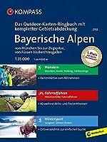 Bayerische Alpen - von Muenchen bis zur Zugspitze, von Fuessen bis Berchtesgaden 1:35 000: 3 in 1: Das KOMPASS-Outdoor-Karten Ringbuch mit kompletter Gebietsabdeckung